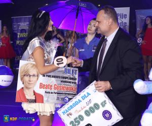 Wręczniae Nagrody dla Miss Lata kielce 2017 Patrona KDF Podatki Skuteczny Zwrot Podatku z Zagranicy